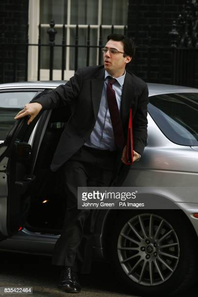 Culture Media and Sport Secretary Andy Burnham arrives at 10 Downing Street in central London