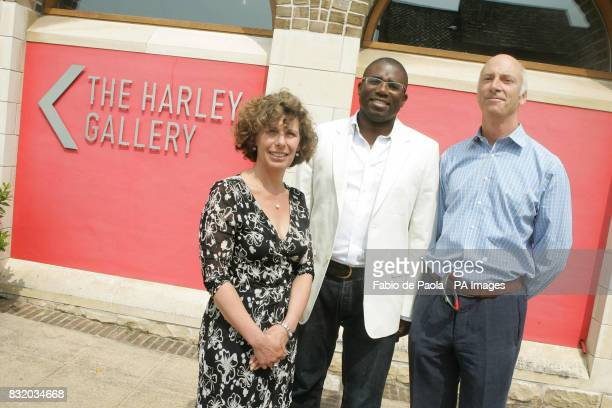 Culture Minister David Lammy Lisa Gee and William Parente at the opening of the latest exhibition at the Welbeck Gallery in Welbeck PRESS ASSOCIATION...