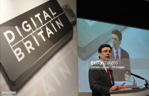 Culture Secretary Andy Burnham speaks at the Digital Britain Summit at the British Library in central London