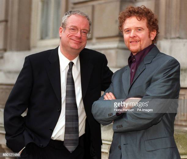 Culture Secretary Chris Smith with Simply Red's Mick Hucknall on the steps of the cabinet office for a music industry forum Hucknall said that the...