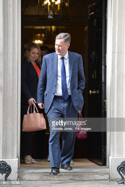 Culture Secretary Karen Bradley and Works and Pensions Secretary David Gauke leaving 10 Downing Street in London following a cabinet meeting