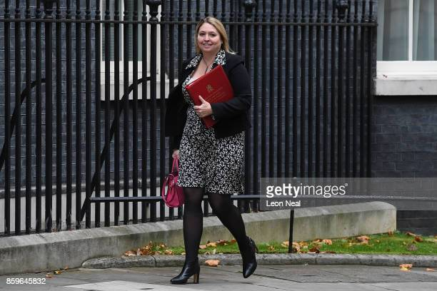 Culture Secretary Karen Bradley arrives in Downing Street ahead of a Cabinet meeting on October 10 2017 in London England The meeting will be the...