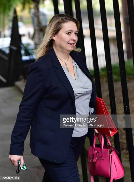 Culture Secretary Karen Bradley arriving in Downing Street London for a Cabinet meeting where Theresa May will brief on her plans for Brexit before a...