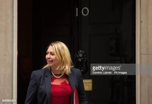 Culture Secretary Karen Bradley leaves 10 Downing Street London following a Cabinet meeting