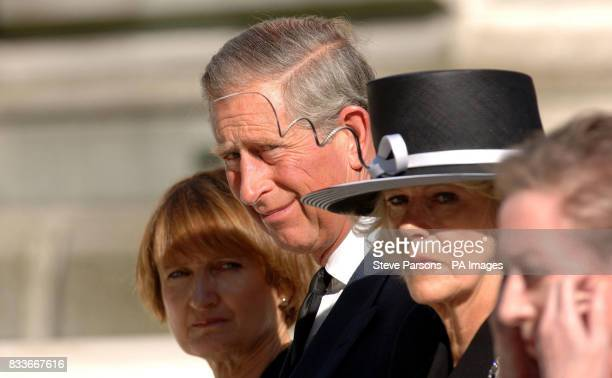 Culture Secretary Tessa Jowell the Prince of Wales the Duchess of Cornwall and Foreign Secretary Margaret Beckett at the unveiling a memorial to...