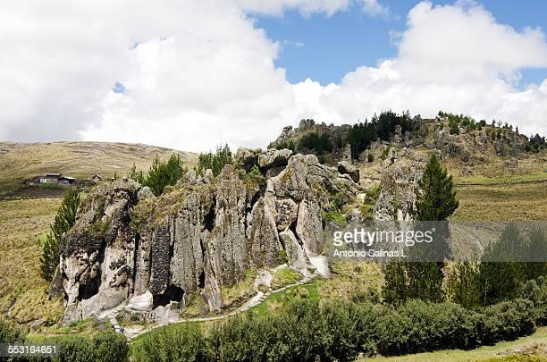 Cumbemayo or Kumbe mayo. Forest of rocks at Peru.