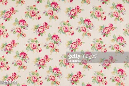 Cumberland Rose Medium Antique Floral Fabric