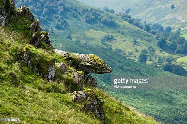 Cumbrian hillside rock outcrop