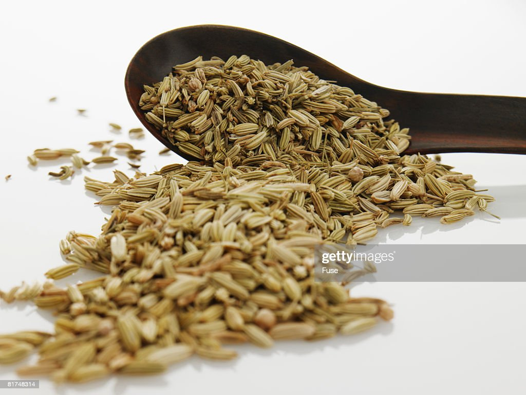 Cumin Seeds and Spoon