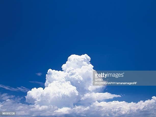 Cumulonimbus clouds in a blue sky