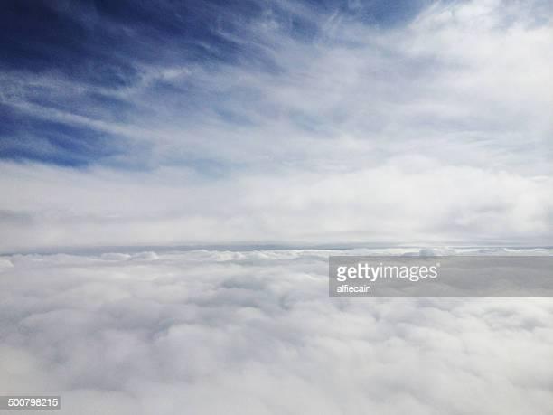 Cumulus clouds from above