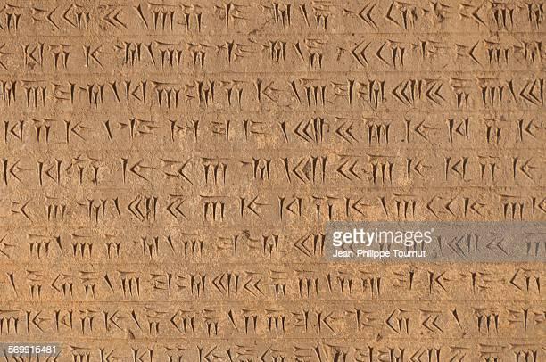 Cuneiform script in persepolis, Iran