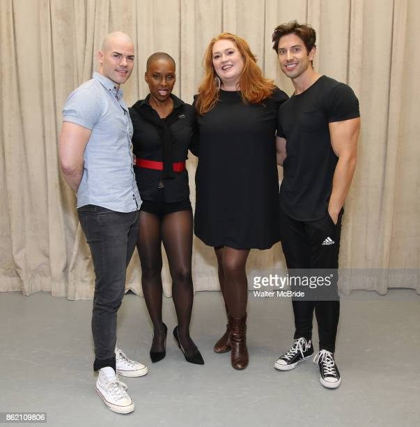 Cunio Brenda Braxton Katie Thompson and Nick Adams during the rehearsal for 'And The World Goes 'Round' during The Abingdon Theatre Company's 25th...