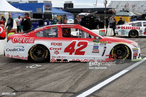Cup Contender Kyle Larson's Target Chevy on pit road before qualifying for the Monster Energy NASCAR Cup Series ISM Connect 300 race on September 22...