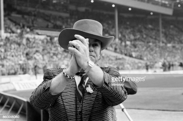 Cup Final at Wembley Stadium Watford chairman Elton John pictured before kick off Final score Everton 2 v Watford FC 0 19th May 1984