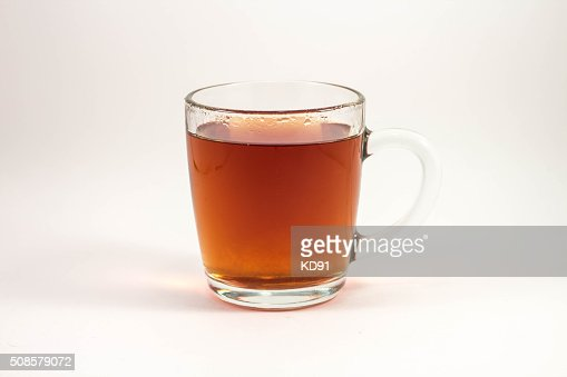 cup of black tea on a white background : Bildbanksbilder