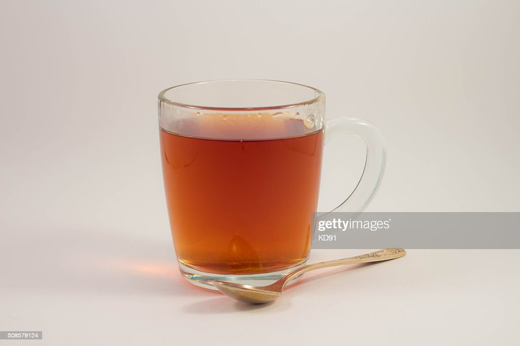 cup of black tea on a white background : Stock Photo