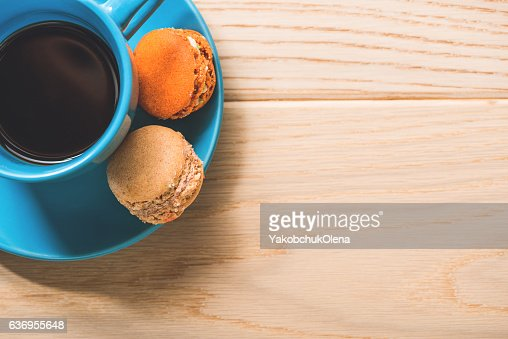 Cup of coffee at table : Stock Photo