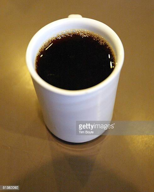 A cup of coffee is seen on the counter of the Cafe Express coffee house October 1 2004 in Evanston Illinois In a recent study researchers say just...