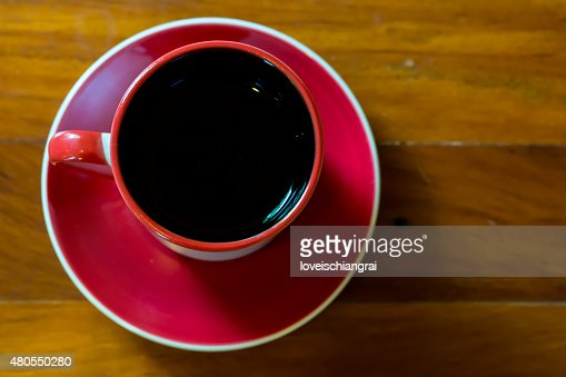 cup of coffee on table in cafe : Stock Photo