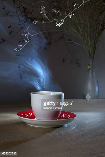 Cup of Coffee or Tea Cup with Steam