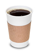 Cup of coffee with clipping path