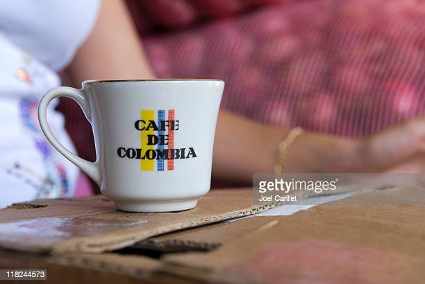 Mug of Colombian coffee in Medellin, Colombia