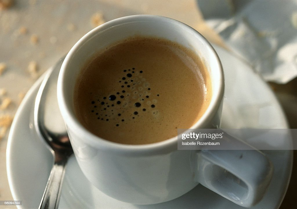 Cup of coffee, view from above. : Stock Photo