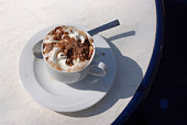 Cup of gourmet coffee