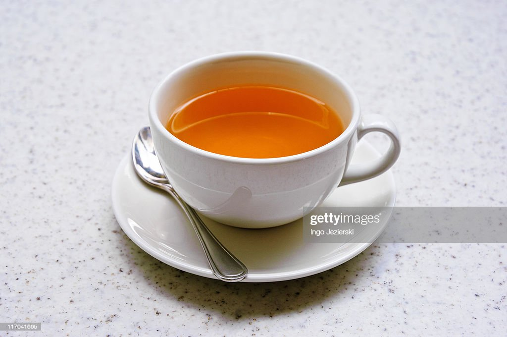 Cup of green tea on table : Stock Photo