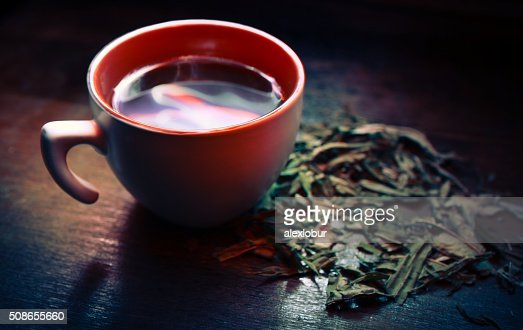 Cup of green tea : Stock Photo