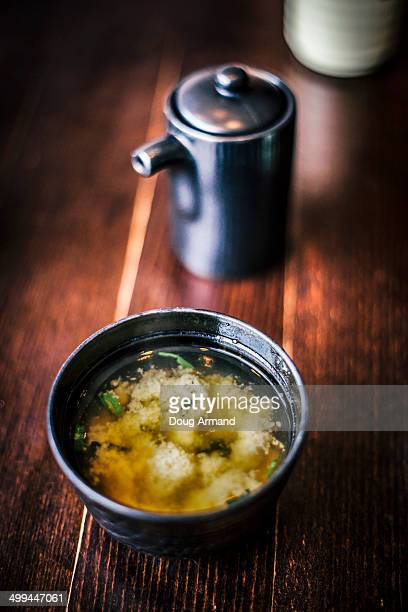 Cup of Japanese miso soup