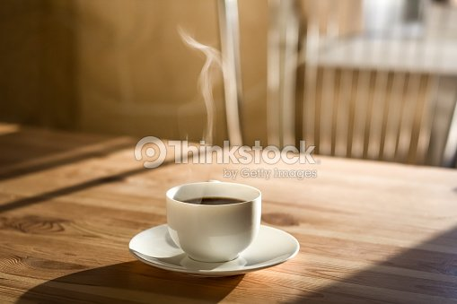 Cup of morning coffee : Stock Photo