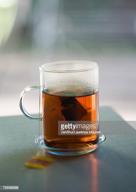 Cup of tea containing tea bag