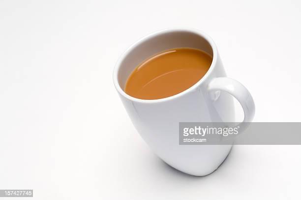紅茶を白で分離