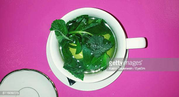 A cup of tea with herbs