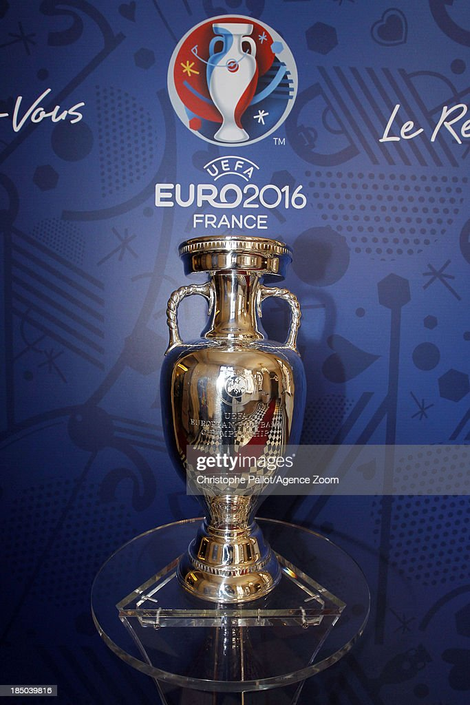 Cup of UEFA Euro 2016 during the EURO 2016 Steering Committee Meeting, on October 17, 2013 in Marseille, France.
