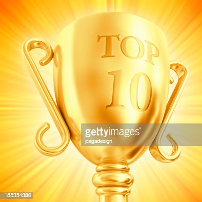 TOP 10 cup : Stock Photo