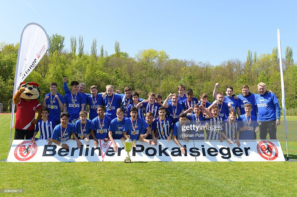 Hertha BSC During the C-juniors cup match between 1 FC Union Berlin and Hertha BSC on May 5, 2016 in Berlin, Germany.