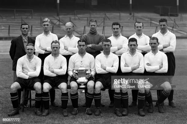 FA Cup winners Everton Back row Harry Cook Cliff Britton Warney Cresswell Ted Sagar Billy Cook Tom White Jock Thomson Front row Albert Geldard Jimmy...