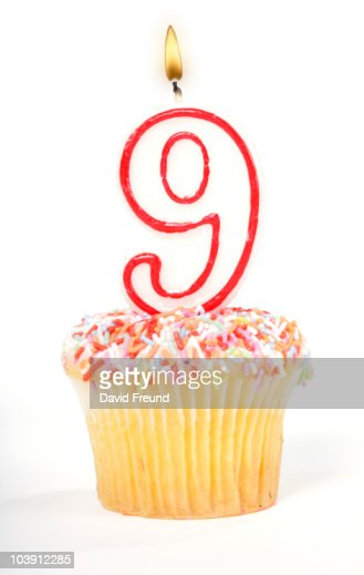 Cupcake Number Candle