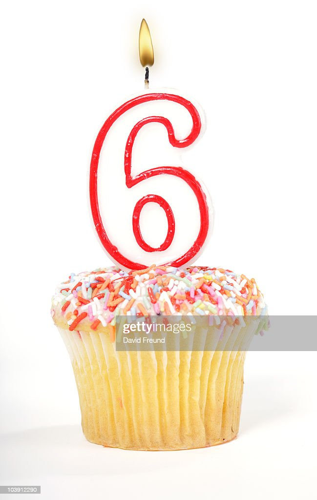 Cupcake Number Candle : Stock Photo