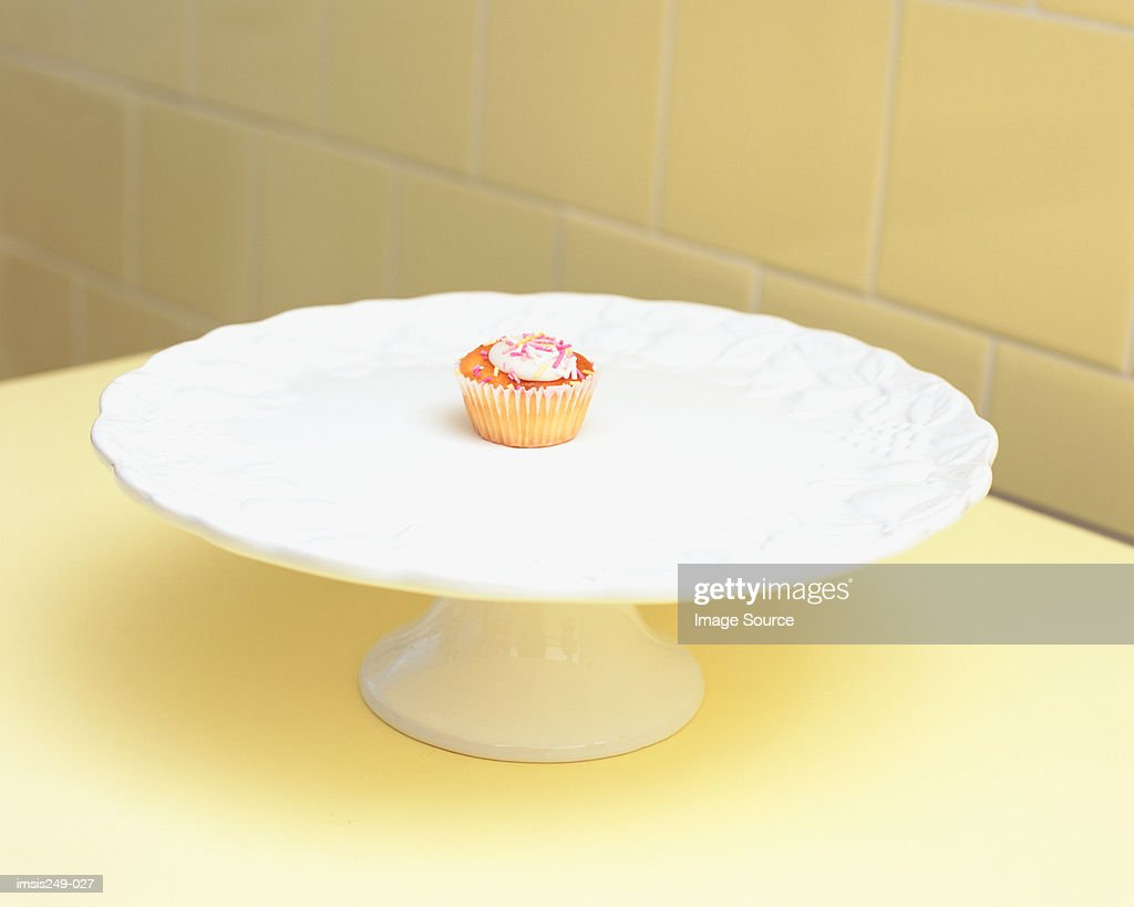 Cup-cake on a cake dish