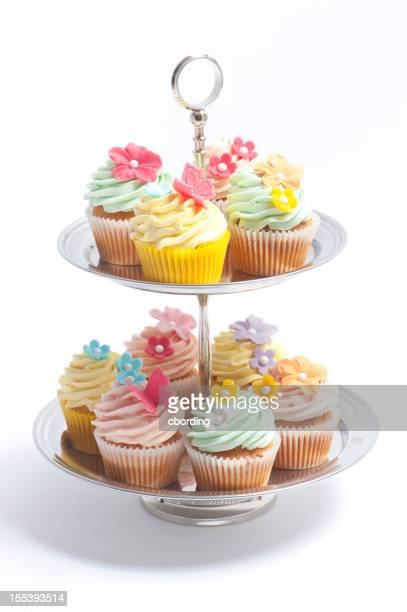 Cupcake on a tiered cake stand
