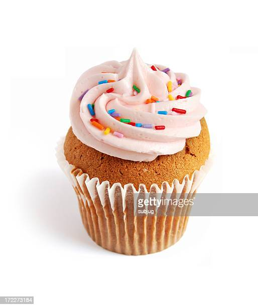 Cupcake with multi colored spinkles
