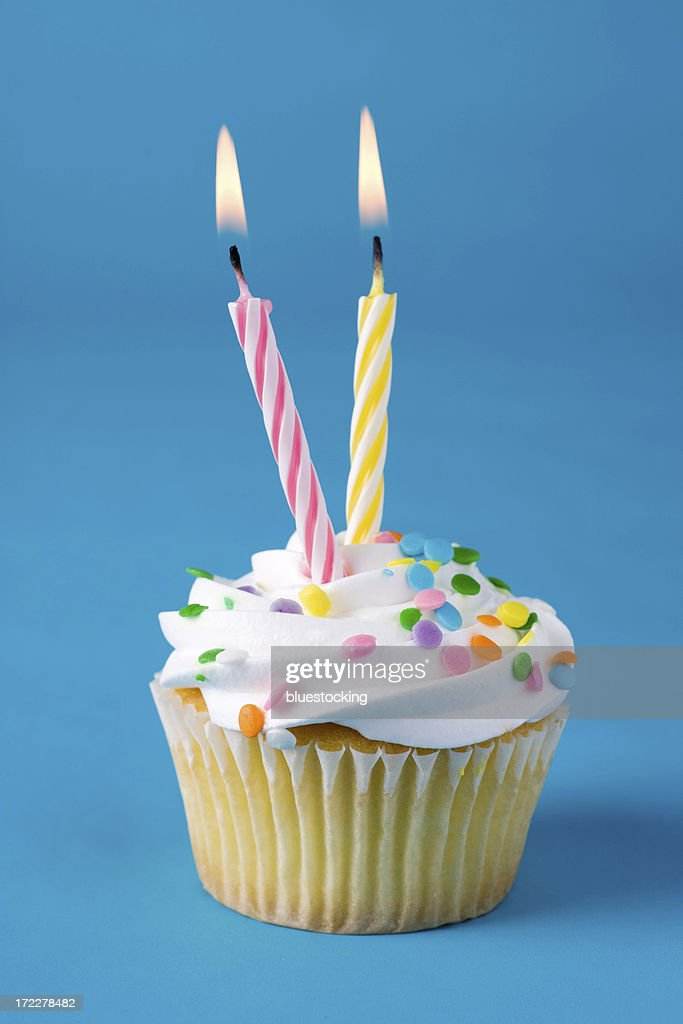 Cupcake with Two Candles