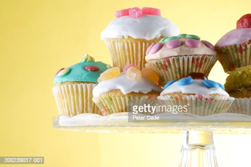 Cupcakes on plate : Stock Photo