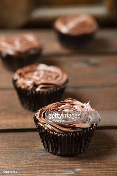 Cupcakes with chocolate ganache