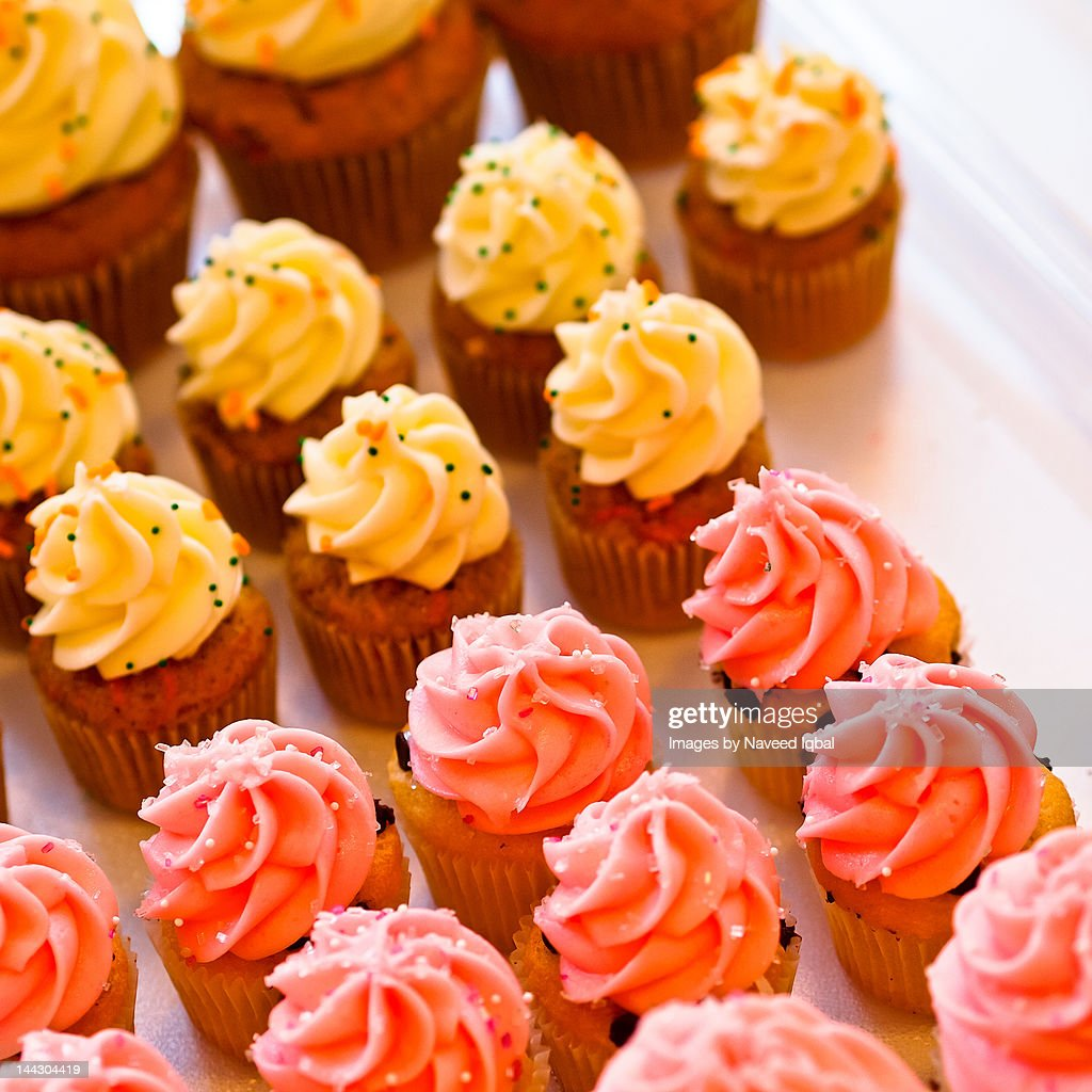 Cupcakes with sprinkles : Stock Photo