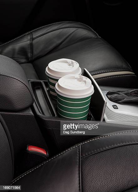 Cups in a car holder